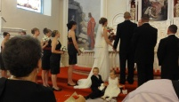 Wesleigh's son Kaden and my cousin Katie's daughter, Lillian, were adorable as ring bearer and flower girl.